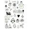 Luminous Tattoo Sticker Festive Party Tattoos Cute Cartoon Christmas Temporary Tattoo Stickers - 07