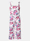 Mommy And Me Matching Outfit Floral Print Sleeveless Casual Jumpsuit - white2
