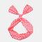 Cute Bow Hairband Straight Wire Hairband White Dot Stripe Fabric Cross Headband - #02