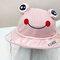 Children's Dust Cap Detachable Face Screen Windproof Transparent Fisherman Hat  - Pink