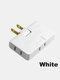 1 PC Flame Retardant Shell 180 Degree Rotating Ultra-thin 2500w High Power Multi-function Plug Converter - White