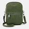 Women Two-layer Solid Phone Bag Crossbody Bag - Green