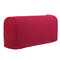 2 Pcs Silky Universal Elastic Armrest Cover Cover Towel Non-slip Knitted Single And Double Thick Sofa Cover - Wine Red