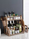 Kitchen Shelf Double-layer Spice Rack With Five-grid Seasoning Box Multi-function Rack With Cutting Board Rack And Knife Rack - #09