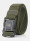 125CM Men Nylon Belt Metal Magnetic Buckle Quickly Unlock Tactical Casual Belt - Army Green