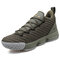 Men Mesh Breathable Non Slip Shock Absorption Basketball Shoes - Army Green