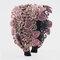 刺繍三次元エスニックスタイルのヘアバンド女性のファッションワイドつばのヘアバンド - ピンク