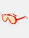 Unisex PC Full Frame Colorful One-piece Lens Anti-UV Goggles Fashion Sunglasses - #04