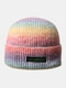 Women & Men Tie-dye Color Gradient Mixed Color Warm Ear Protection Brimless Beanie Knitted Hat - #04