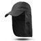 Men Women Outdoor Sports Cotton Wild Cap Casual Visors Breathable Baseball Cap - Black