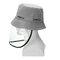 Anti-spitting Protective Mask Hat Anti-fog Anti-Splash Fisherman Full Face Cap   - Gray