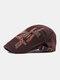 पुरुषों के पत्र कढ़ाई आकस्मिक फैशन Sunvisor फ्लैट टोपी आगे टोपी टोपी टोपी - कॉफ़ी