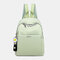Women Oxford Daisy Ornament Anti theft Waterproof Laptop Pack Backpack - Green