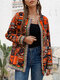 Ethnic Style Floral Print Plus Size Jackets - Red