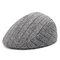 Berretto da berretto a righe di lino caldo invernale da uomo, berretto confortevole da esterno per la casa