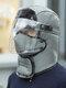 メンズ&レディースフェイクレザーウォーム防風イヤーフェイスアイプロテクションアウトドアライディングトラッパーハット - #10
