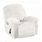 Waterproof Recliner Couch Cover All-inclusive Sofa Cover Seat Elasticity Stretch Anti-slip Furniture Slipcovers Chair Protector - White