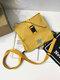 Men Stylish Canvas Crossbody Bag Shoulder Bag Square Bag - Yellow