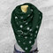Women Five-pointed Star Pattern All-match Thick Warmth Shawl Printed Scarf - Green