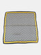 Women Silk Floral Pattern Printed Lightweight Headband Square Scarf - #01