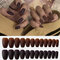 24Pcs/Box Full Cover Frosted Ballet Nail Tips Almond Press On Nails Wearable Fake Nail with Glue - 18