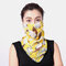Women Ear-mounted Scarf Floral Breathable Protection Sunscreen Face Masks Neck  - 03