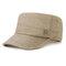 Hommes simple Vogue Lin couleur unie casquette plate parasol Chapeau réglable extérieur