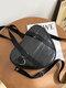 Heart-shaped Double Handle Crossbody Bag Shoulder Bag - Black