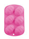 Six Easter Eggs DIY Cake Pudding Mould Reuseable Flexible Non-sticky Silicone Home Handmake Baking Hoilday Food Mold Bakeware - Pink