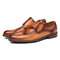 Menico Men Stylish Brogue Oxfords Side Lace Up Fromal Wedding Shoes