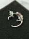 Hip Hop Vintage Black Long Tail Leopard Cat Pierced Earrings - Silver