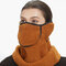 Men Women Winter Warm Cold Dustproof Breathable Warm Ears Outdoor Cycling Ski Travel Mouth Face Mask - Brown