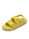 Women Candy Colors Soft Comfy Buckle Sports Beach Sandals - Green1