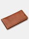 Men EDC Genuine Leather Muti-Card Slots Wallets Removable Card Holder Phone Case - Red Brown