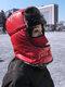 メンズ&レディースフェイクレザーウォーム防風イヤーフェイスアイプロテクションアウトドアライディングトラッパーハット - #02