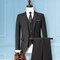Three Pieces Business Wedding Slim Fit Evening Party Dressing Suit for Men - Black