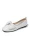 Повседневный лук Дизайн Одинарные туфли Комфортные Soft Симпатичные балетки для Женское - Белый