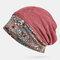 Шарф-бини с кружевной вышивкой и принтом Шапка Тюрбан двойного назначения - Красный