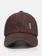 Unisex Made-old Cotton Solid Color Broken Hole Embroidery Fashion All-match Baseball Cap - Coffee