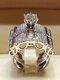 Trendy Geometric Metal Diamond Rings Temperament Rhinestone Rings - #18