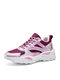 Women Soft Comfy Mesh Breathable Cream Chunky Sneakers - Light Purple