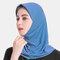 Muslim Hijab Scarf Women Solid Crystal Hemp  - Dark Blue