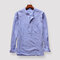 Mens Striped Printed Cotton Breathable V-neck Long Sleeve Casual T Shirts with Pocket
