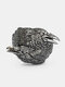 Vintage 925 Silver Plated Women Ring Two Crow Men Ring Jewelry Gift - Antique Silver
