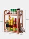 Kitchen Shelf Double-layer Spice Rack With Five-grid Seasoning Box Multi-function Rack With Cutting Board Rack And Knife Rack - #12