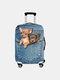 Custodia protettiva per bagagli da viaggio resistente all'usura con stampa gatto - #03