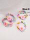 3/4 Pcs Brief Ins Flower Butterfly Love Yin Yang Gossip Millet Bead Resin Rings - #04