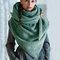 Женское Повседневная универсальная толстая теплая шаль с шарфом с пряжкой и принтом - Зеленый