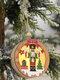 1Pc Christmas Ornament Lighted Wooden Walnut Soldier Pendant Small Tree Pendant Pendant - #03
