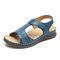 LOSTISY Komfortabler Klettverschluss Sommer Geöffnete Zehe Beach Sandalen
